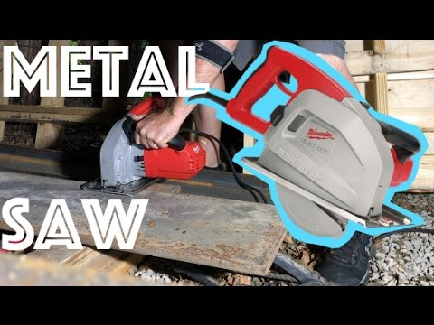 Thick Metal Cutting Skill Saw - Using the Milwaukee  6370-21 Saw Pushing the limits