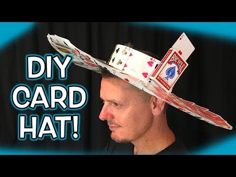 How to Make PLAYING CARD Hat!!