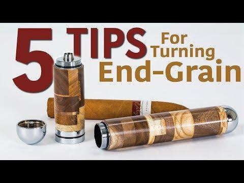 Making A Cigar Holder & 5 Tips For Turning End Grain