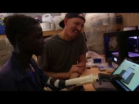 Project Daniel : Not Impossible's 3D Printing Arms for Children of War Torn Sudan (HD)