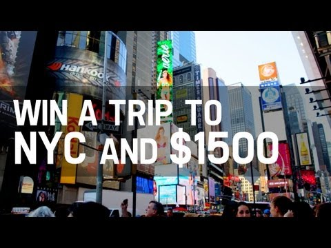 WIN A TRIP FOR 2 TO NYC & $1500!!!