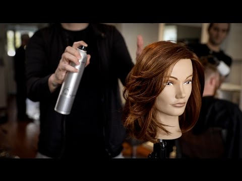 Medium Length Layered Haircut for Thick Hair | MATT BECK VLOG 103