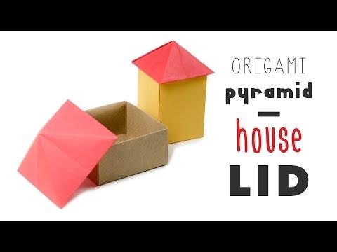 Origami House Box - Pyramid Lid Tutorial  ♥︎ DIY ♥︎ Paper Kawaii