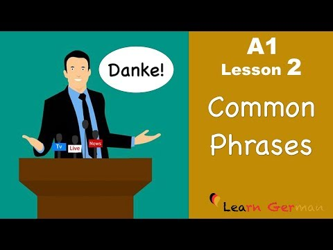 Learn German | Common Phrases | German for beginners | A1 - Lesson 2