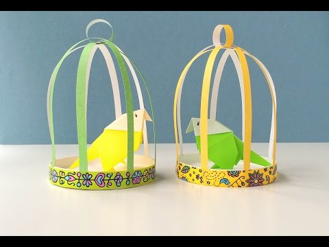 How to Make a Paper Bird Cage