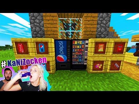 Nina reagiert auf GETRÄNKEAUTOMATEN im Minecraft Dorf! Kaans Überraschung! Vending Machine Mod