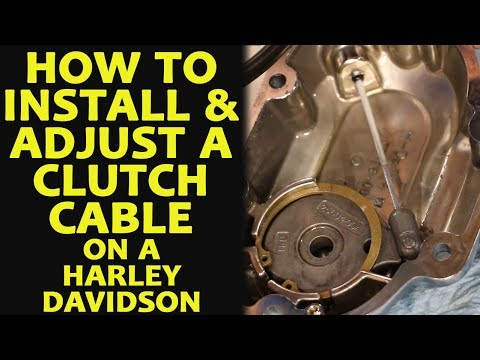 How to Install & Adjust a Clutch Cable on a Harley Davidson