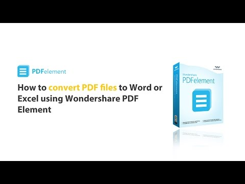 How to: Convert PDF to word/excel by using PDFelement