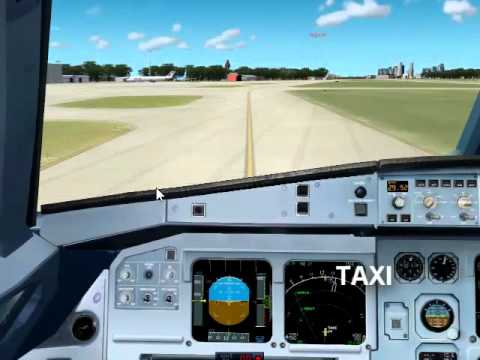 [FS2004] Despegue @Aeroparque (SABE)- A320 [TIMELAPSE]
