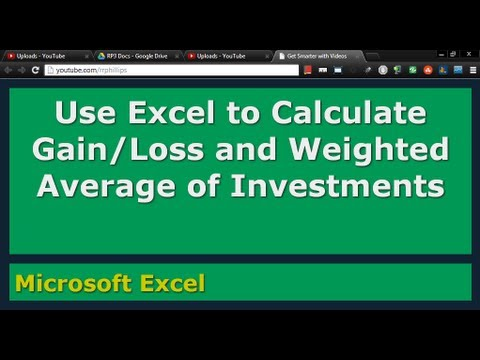 Use Excel to Calculate Gain/Loss and Weighted Average of Stock Investments