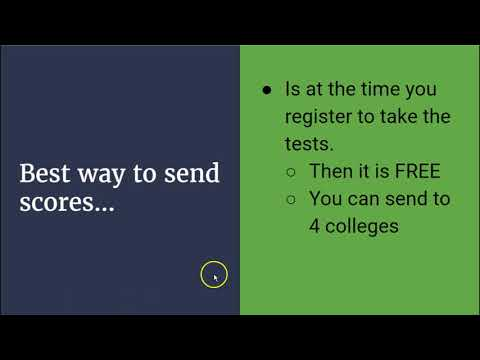 How to send SAT and ACT scores to college