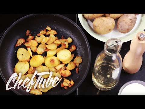 How to make Crispy Pan-Fried Potatoes - more details in the description