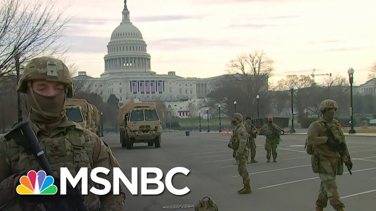 Thousands Of Troops Descend On Washington Ahead Of Inauguration | Stephanie Ruhle | MSNBC