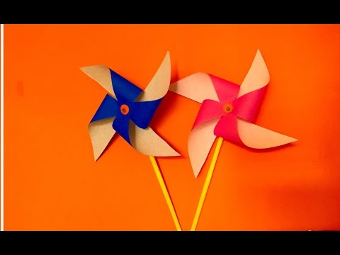 How to make Paper Pinwheel craft for kids | Spinning Windmill making for tutorial for kids craft