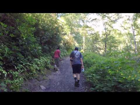 Hiking up Chimney Tops - Great Smokey Mountains