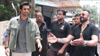 Ranbir Kapoor's MACHO ENTRY With Sanju Baba At Sanjay Dutt Biopic Sanju Trailer Launch