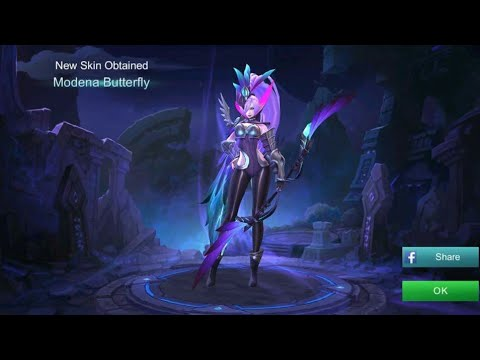Gameplay+Review Miya Skin Modena Butterfly [LEGEND] - Mobile Legend Indonesia
