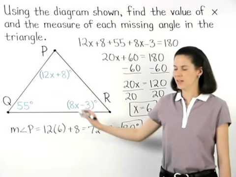 Angles of a Triangle | Triangle Sum Theorem | MathHelp.com