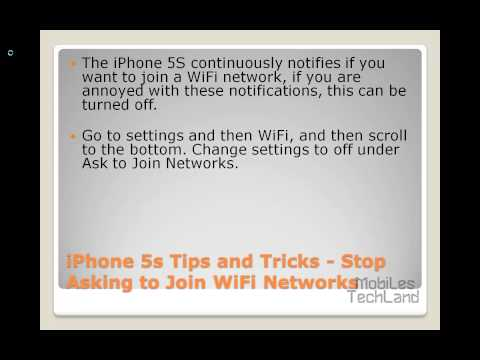 iPhone 5s Tips and Tricks - Stop Asking to Join WiFi Networks
