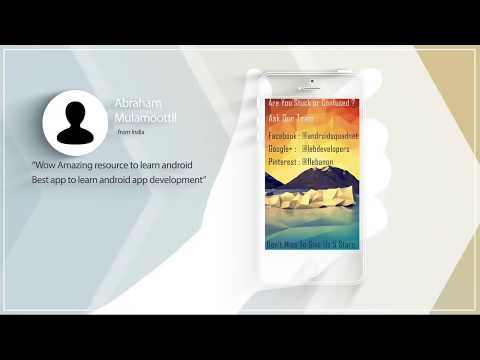 Master Android - Learn Android App Development Free Tutorials with Source Codes