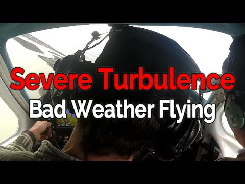 RECREATIONAL PILOT CERTIFICATE:  Lesson #13 Bad Weather Flying - Severe Turbulence | Student Pilot
