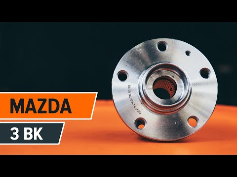 How to replace a rear wheel bearing on MAZDA 3 BK TUTORIAL | AUTODOC