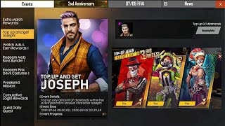 Top Up 1 Diamond And Again Get Free Joseph Character Bundle Free Fire New First Topup Events1ffl