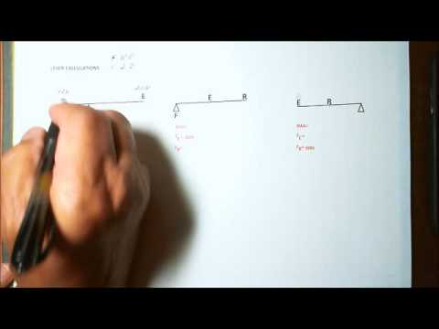 Levers and Simple Machine Calculations - Using Ideal Mechanical Advantage