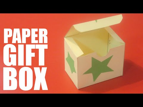 How to make a paper gift box with lid