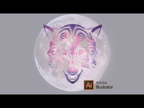 How To Make Galaxy Wolf With Clipping Mask On Adobe Illustrator CS6