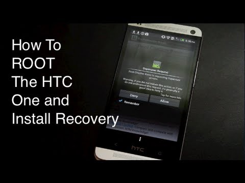 HTC One M7 How To ROOT EASIEST METHOD (Sprint, AT&T, T-Mobile,International)