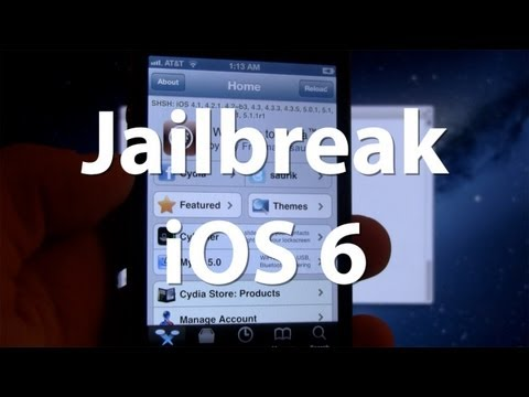 Jailbreak iOS 6 & Install Cydia Manually- iPhone 4, 3Gs, iPod Touch 4G - Tethered Jailbreak