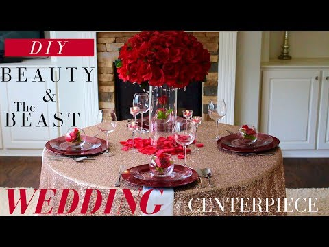 DIY BEAUTY AND THE BEAST CENTERPIECE | DOLLAR TREE WEDDING DECORATIONS