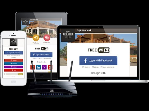 DIY Wi-Fi router hotspot to social marketing tools with wifi captive portal software