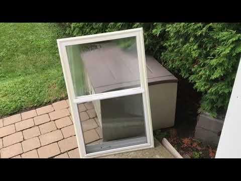 Replacement of exterior door window insert