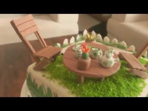 Garden Theme Cake