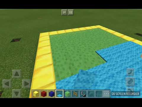 How to make a bouncy house on minecraft