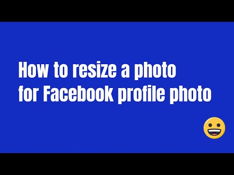 How to resize a photo for Facebook Profile Photo