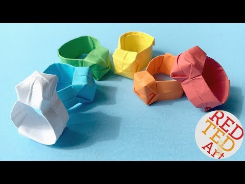 Origami Ring DIY   Easy Paper Ring