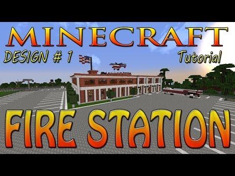 Minecraft Fire Station Tutorial (Design 1)