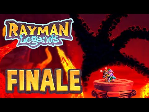 Rayman Legends - 28 - Olympus Maximus: A Cloud of Darkness! & Ending Credits (5 Player)