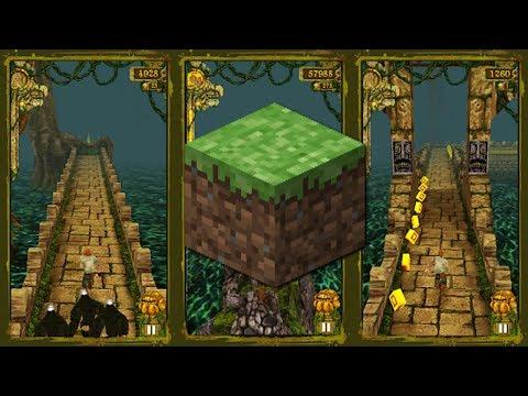 TEMPLE RUN IN MINECRAFT - Best Minecraft PE Map Yet!