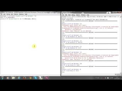 Python Conversor de Número Decimal para Binário, Octal ou Hexadecimal