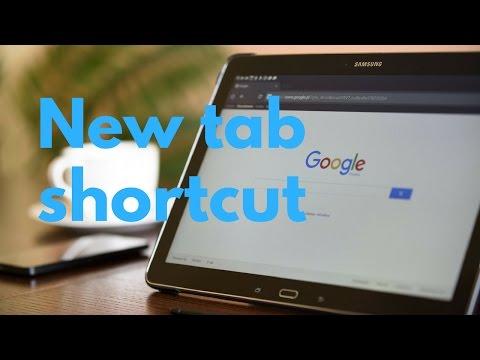 👍 CHROME - NEW TAB shortcut