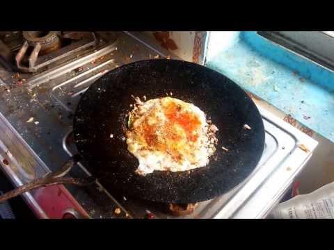 How to make half fried egg(Semi omlette)