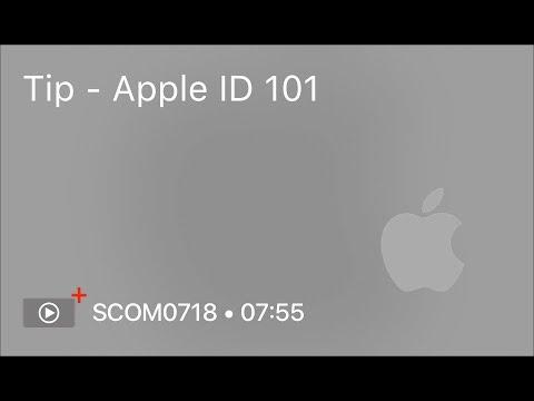 SCOM0718 - Tip - Apple ID 101