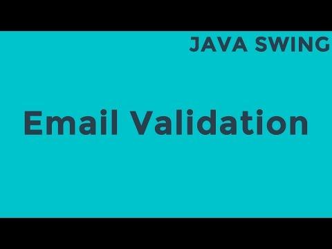 Java Email Validation