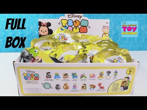 Disney Tsum Tsum Series 7 Full Box Mystery Pack Toy Review Opening   PSToyReviews