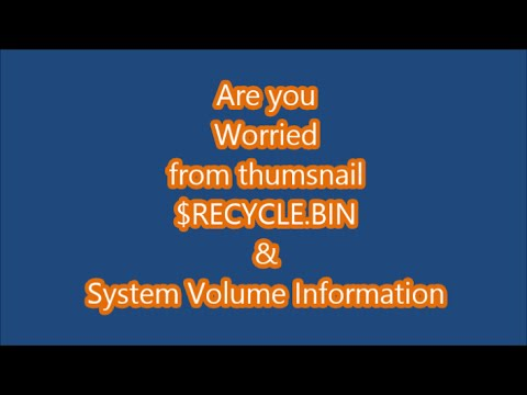 How to fix recycle.bin & system volume Information in Computer/PC/Laptop