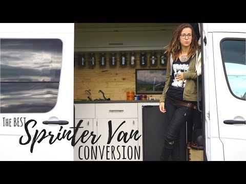 CUSTOM SPRINTER VAN CONVERSION - From Cargo Van to Off-Grid Tiny House  - VANLIFE